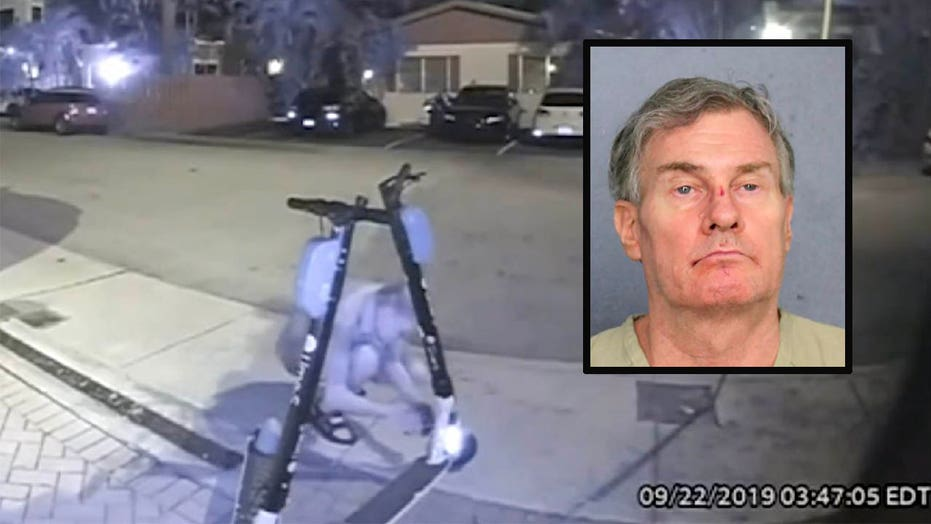 Raw video: Florida man caught cutting brake lines of electric scooters in Fort Lauderdale