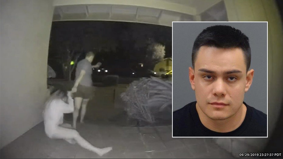 Man arrested after doorbell camera captures woman being dragged, severely assaulted