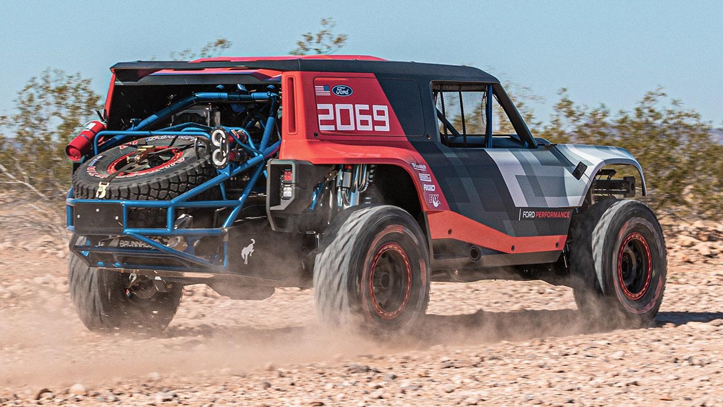 first look  2021 ford bronco revealed as baja 1000 racing