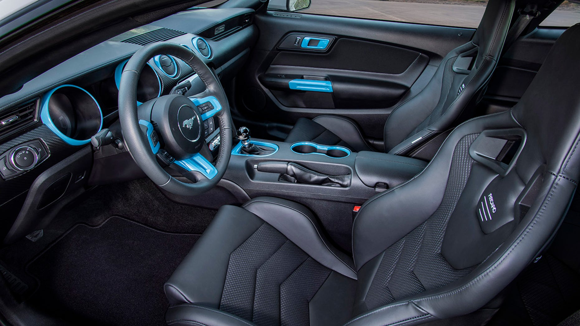 electric Ford Mustang interior