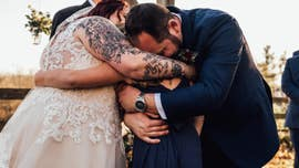 Groom's wedding-day speech to stepdaughter leaves everyone in tears