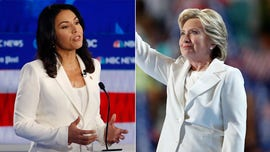 NY Times fashion critic trashes Tulsi Gabbard's white pantsuit, but liked same look on Clinton