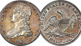 Rare 1838 half-dollar coin sold for $504G