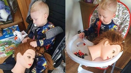 Toddler is obsessed with 'creepy' mannequin doll head, mom says