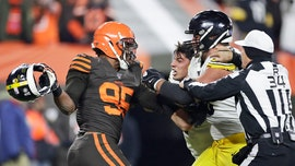 Myles Garrett accuses Steelers' Mason Rudolph of using racial slur before brawl during appeal hearing: report