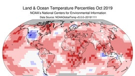 2019 could be Earth's second-hottest year, NOAA finds