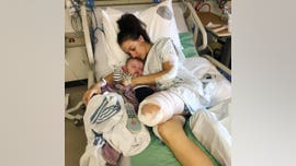 Mom 'grateful' to be alive after losing leg in horror motorcycle accident