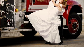 Los Angeles firefighters escort bride, bridesmaids to wedding during traffic jam