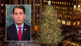 Scott Walker reacts after liberal governor labels state Christmas tree a 'holiday tree'
