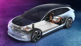 L.A. Auto Show: The Electric Volkswagen ID Space Vizzion is upholstered with apples