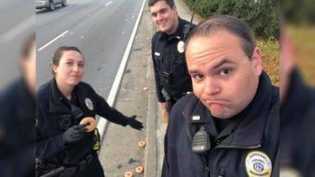 Cops mourn Krispy Kreme doughnuts that fell from truck