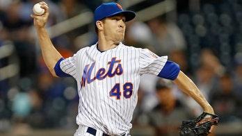 Mets ace Jacob deGrom (back tightness) awaiting MRI results