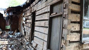 Civil War log cabin discovered during house demolition