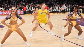 Ex-New England Patriots' Rob Gronkowski makes Los Angeles Lakers debut at halftime show