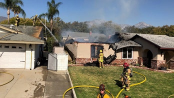 Pilot dies when small plane crashes into California home: authorities