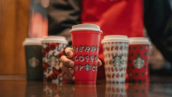 Starbucks debuts 2019 holiday cup designs covered in festive 'typography'