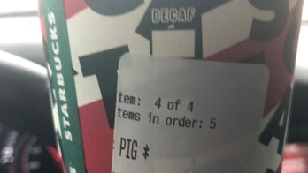 Starbucks apologizes, issues statement with Oklahoma police after barista wrote 'Pig' on officer's cup