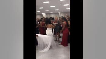 Bride uses bouquet toss at wedding to help her brother propose to his girlfriend