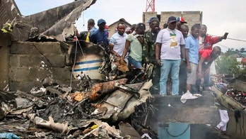 Congo plane crashes into homes in African town leaving at least 25 dead