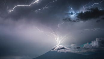 Stunning photo shows lightning bolt striking an erupting volcano in Guatemala