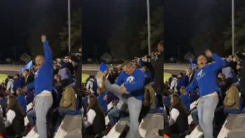 Virginia 'cheer dad' goes viral for football game performance: 'This guy is legit'