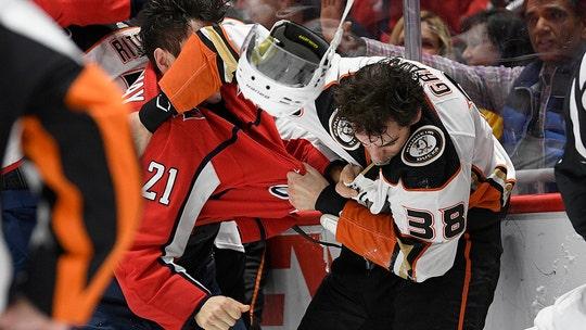 Washington Capitals' Garnet Hathaway ejected for spitting during nasty brawl vs. Anaheim Ducks