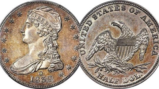 Rare 1838 half-dollar coin sold for $504G