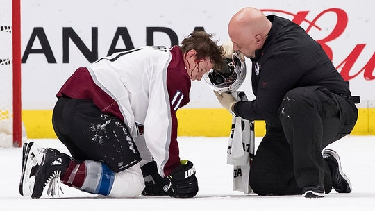 Colorado Avalanche angry over refs' decision to continue possession as player was bloodied from shot