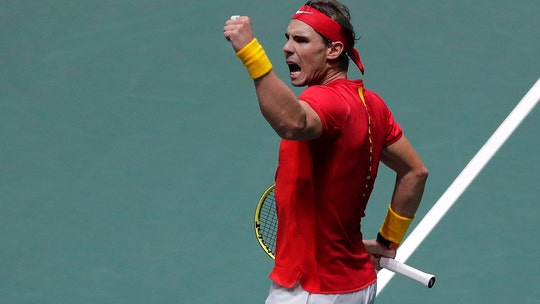 Nadal leads Spain to win over Russia in Davis Cup Finals