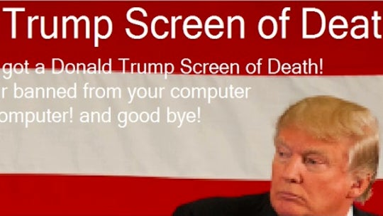 'Donald Trump Screen of Death': President's likeness used as ransomware bait