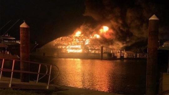 Florida marina fire destroys 2 luxury yachts worth $24 million