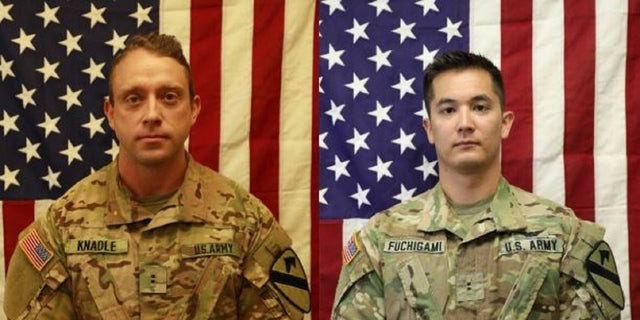 Chief Warrant Officer 2 David C. Knadle and Chief Warrant Officer 2 Kirk T. Fuchigami died Wednesday in Logar Province, Afghanistan.