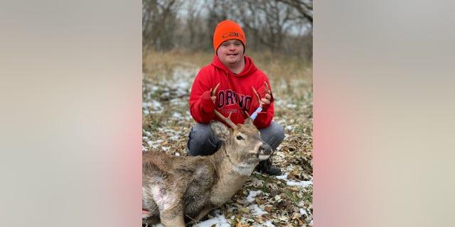 Pierce Pennaz, 19, shot his first buck over the weekend. (Courtesy of Steve Pennaz)