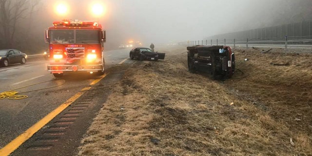 Several minor accidents were reported due to ice conditions on Interstate 64 in Virginia on Sunday.