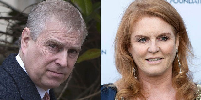 Prince Andrew (L) and Sarah Ferguson (R)
