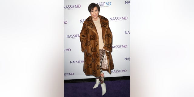 Kris Jenner wears mink ankle-length Gucci coat a event in Beverly Hills, California. (Photo by Frederick M. Brown/Getty Images)