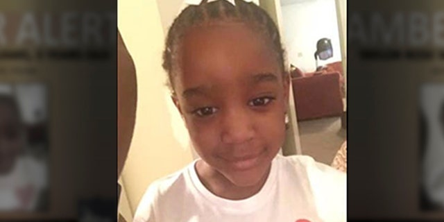 In this Amber Alert made available by the Jacksonville, Fla., Police, shows an undated photo of Taylor Williams. On Tuesday, Nov. 12, 2019, authorities in Alabama say they have found human remains while searching in the woods for Williams. The child was reported missing from her Jacksonville, Fla., home last Wednesday.