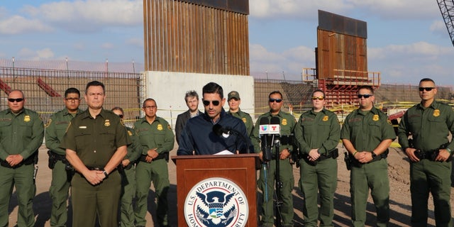 The new acting homeland security secretary toured border wall in Texas this week. (Adam Shaw/Fox News)