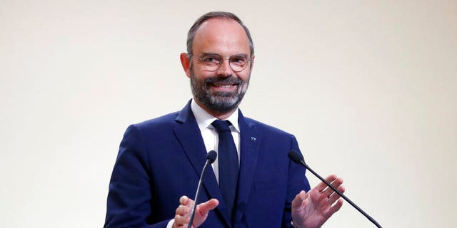 French Prime Minister Edouard Philippe speaks at a news conference on immigration in Paris, Wednesday Nov. 6, 2019.