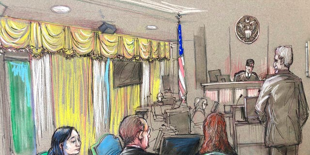 FILE: Yujing Zhang, left, listens to a hearing in West Palm Beach, Fla. this past April.