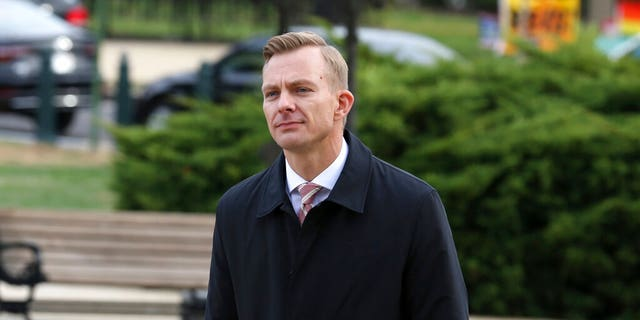 David Holmes, a career diplomat and the political counselor at the U.S. Embassy in Kyiv, Ukraine. (AP Photo/Jose Luis Magana)
