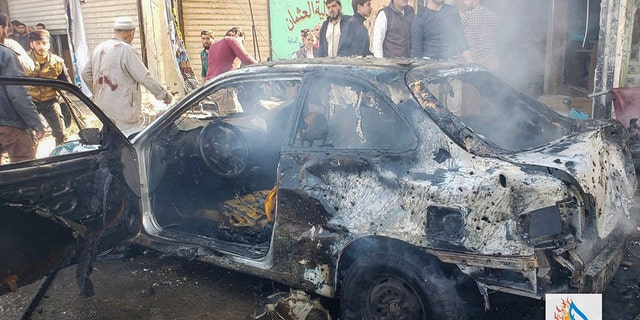 Westlake Legal Group AP19320487671486 Car bomb rocks Syrian town held by Turkey, more than a dozen killed fox-news/world/world-regions/turkey fox-news/world/terrorism fox-news/world/crime fox-news/world/conflicts/syria fnc/world fnc Associated Press article 506f1920-2382-5d32-9b22-465503a351ed