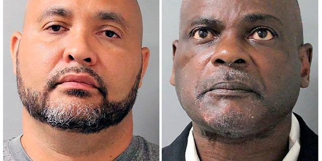 Steven Bryant and Gerald Goines in Houston. The former Houston police officers are facing federal charges for their roles in a January drug raid that left two people dead. (Houston Police Department via AP)