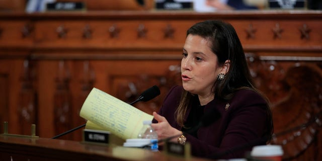Rep. Elise Stefanik, R-N.Y., questions former White House national security aide Fiona Hill, and David Holmes, a U.S. diplomat in Ukraine, as they testify before the House Intelligence Committee on Capitol Hill in Washington, Thursday, Nov. 21, 2019.