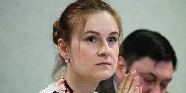 Russian national Maria Butina attends a meeting on human rights at the State Duma in Moscow on Friday. (AP Photo/Pavel Golovkin)