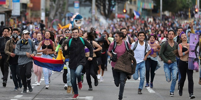 Westlake Legal Group AP19329821403878 Massive Colombia anti-government protests continue amid heightened violent crackdown fox-news/world/world-regions/latin-america fox-news/world/world-regions/americas fox news fnc/world fnc Chris Massaro article 093c7a70-eb4f-5502-8a49-b194c84e30d7
