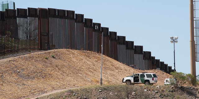 A border fence in Nogales, Ariz. A Border Patrol agent shot a Russian citizen allegedly attempting to cross the U.S.-Mexico border in Arizona on Thursday.