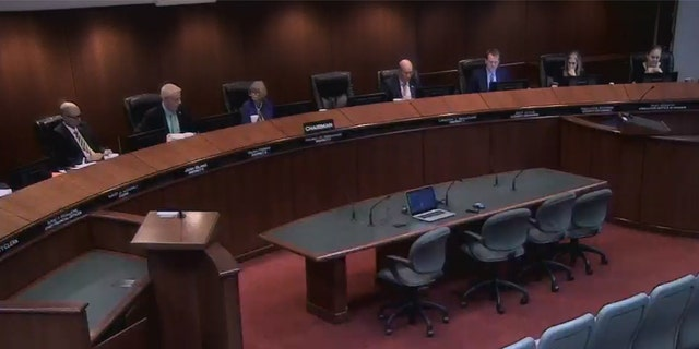 Image shows meeting of the Lake County, Fla., Commission last week when the passed a