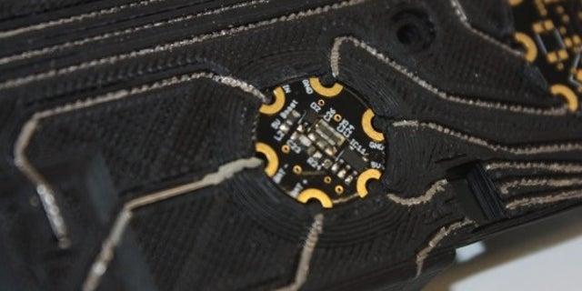 Bionic hand circuitry.