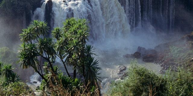 File photo - Blue Nile Falls (Tis Issat, smoking water) near Bahar Dar, Ethiopia.